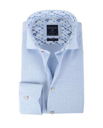 Profuomo Overhemd Non Iron Blue Design