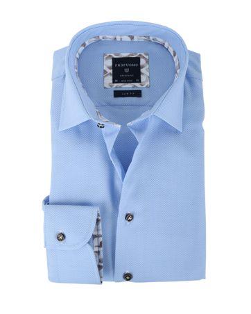 Profuomo Overhemd Non Iron Blue Dessin