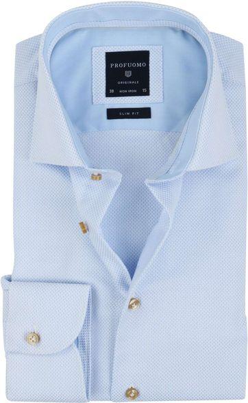 Profuomo Overhemd SF Blauw Dessin