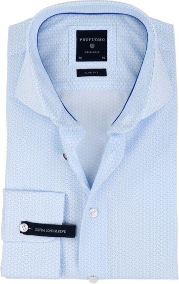 Profuomo Overhemd SF Blauw Dessin SL7
