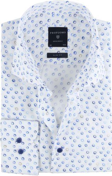 Profuomo Overhemd SF Cirkel Blauw