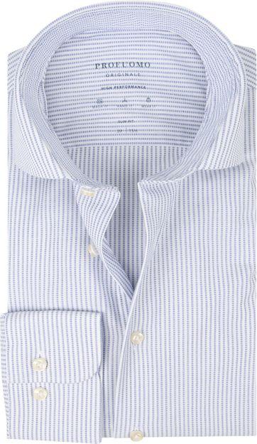 Profuomo Overhemd SF Dobby Blauw