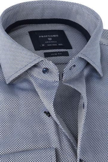 Profuomo Overhemd SF Dobby Donkerblauw