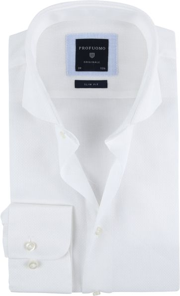 Profuomo Overhemd SF Ice Cotton Wit