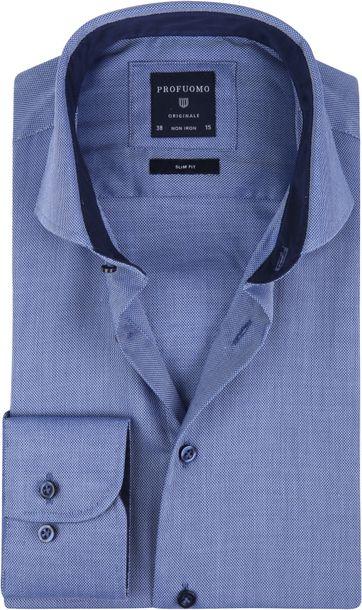 Profuomo Overhemd SF Non Iron Blauw