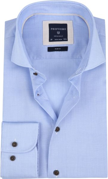 Profuomo Overhemd SF Non Iron Light Blue