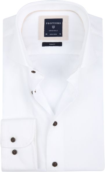 Profuomo Overhemd SF Non Iron White