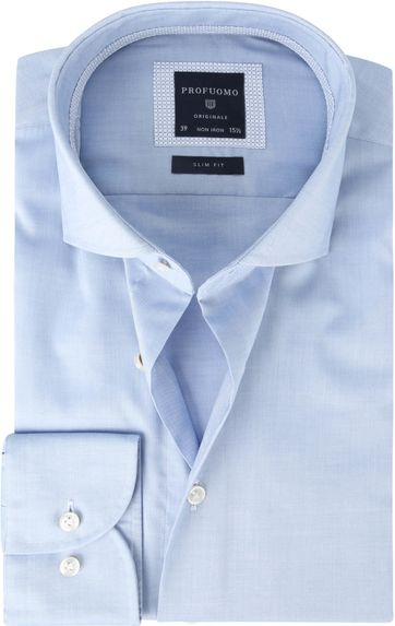 Profuomo Overhemd SF Pinpoint Blauw