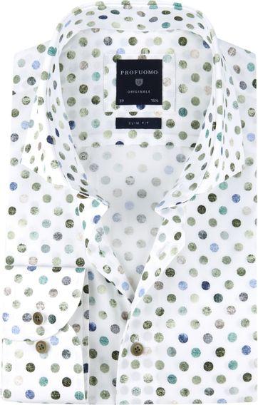 Profuomo Overhemd SF Polka Dot Groen