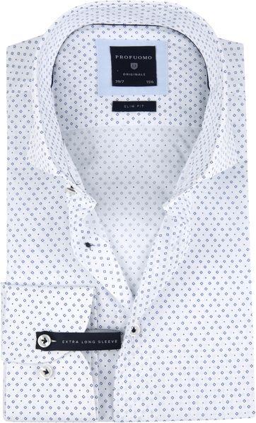 Profuomo Overhemd SF SL7 Printed Blauw