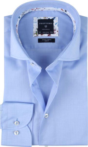 Profuomo Overhemd SF Twill Blauw