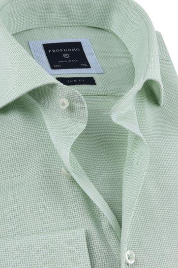 Profuomo Overhemd Sleeve 7 Groen