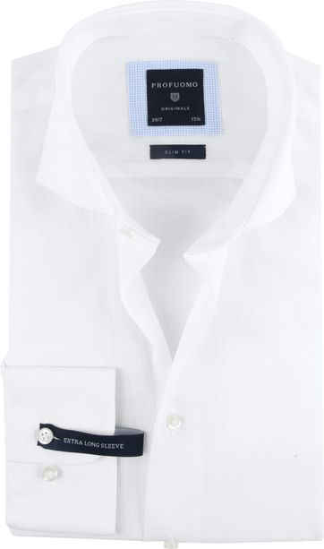 Profuomo Overhemd Sleeve 7 Wit