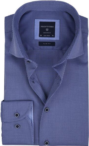 Profuomo Overhemd Slim-Fit Non Iron Blauw