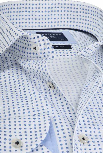 Profuomo Overhemd Stippen Blauw