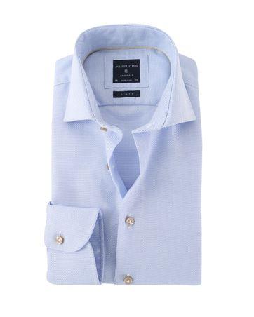 Profuomo Overhemd Strijkvrij Blauw
