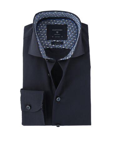Profuomo Overhemd Strijkvrij Donkerblauw