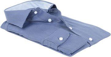 Detail Profuomo Overhemd Strijkvrij Navy