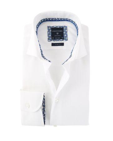 Profuomo Overhemd Strijkvrij Wit