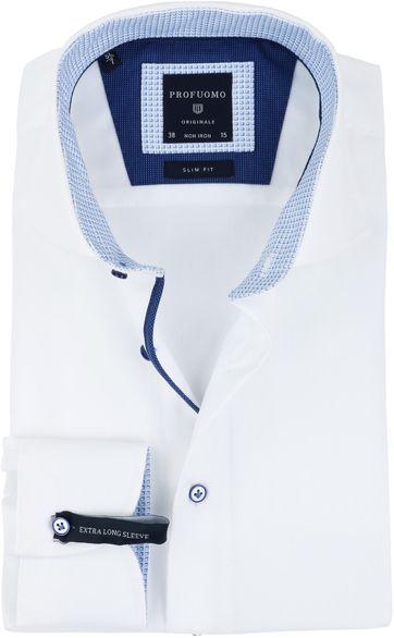 Profuomo Overhemd Strijkvrij Wit SF SL7