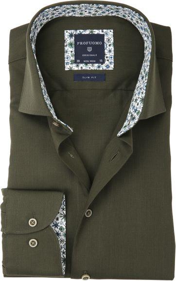 Profuomo Overhemd Uni Groen