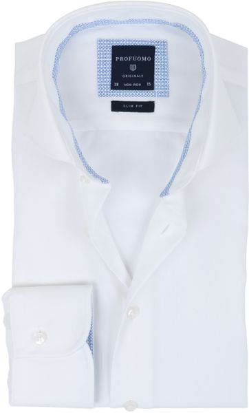 Profuomo Overhemd Uni Wit