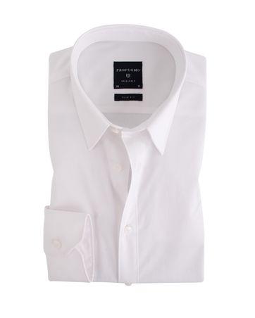 Profuomo Overhemd Wit Stretch