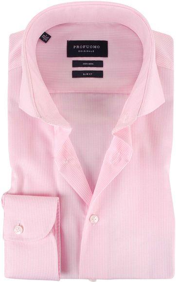 Profuomo Overhemden Cutaway Pink