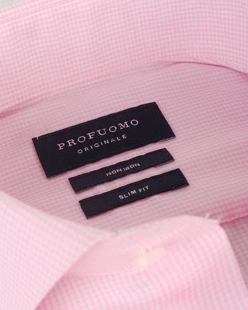 Detail Profuomo Overhemden Cutaway Pink