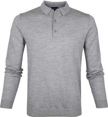 Profuomo Polo Shirt Longsleeve Merino Grey