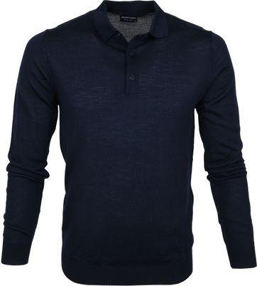 Profuomo Polo Shirt Longsleeve Merino Navy