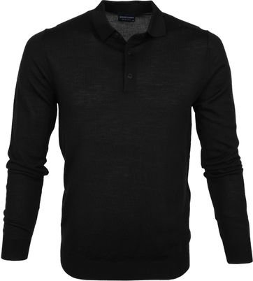 Profuomo Polo Shirt Merino Black