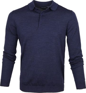 Profuomo Polo Shirt Merino Blue