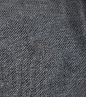 Detail Profuomo Poloshirt Antraciet