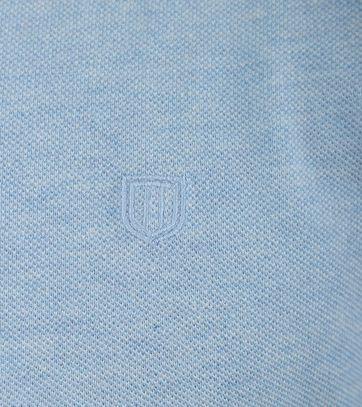 Detail Profuomo Poloshirt Blauw