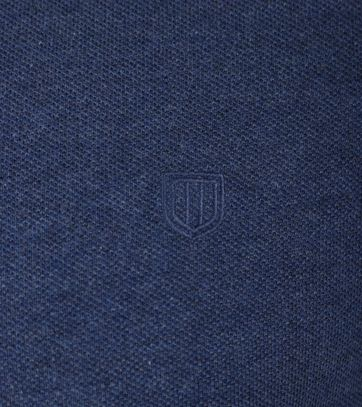Detail Profuomo Poloshirt Indigo