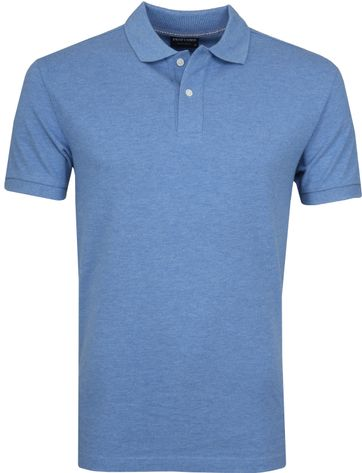 Profuomo Poloshirt Melange Blau