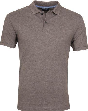 Profuomo Poloshirt Melange Dark Grey
