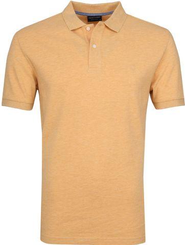 Profuomo Poloshirt Melange Gelb