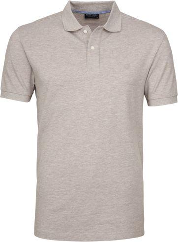 Profuomo Poloshirt Melange Grey