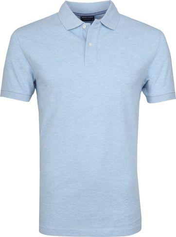 Profuomo Poloshirt Melange Light Blue