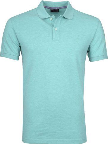 Profuomo Poloshirt Melange Turquoise