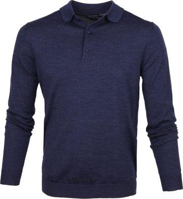 Profuomo Poloshirt Merino Blau