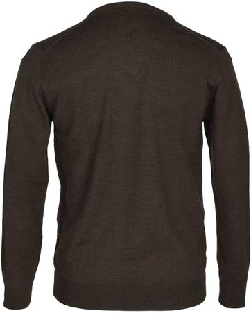 Detail Profuomo Pullover Merino V-Hals Taupe