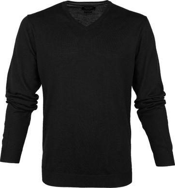 Profuomo Pullover Merino V-Neck Black