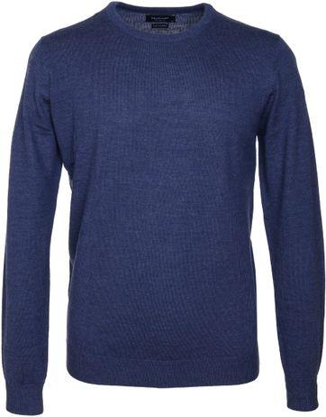 Profuomo Pullover O-Ausschnitt Blau