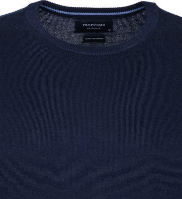 Profuomo Pullover O-Ausschnitt dunkelblau