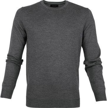 Profuomo Pullover O-Ausschnitt dunkelgrau