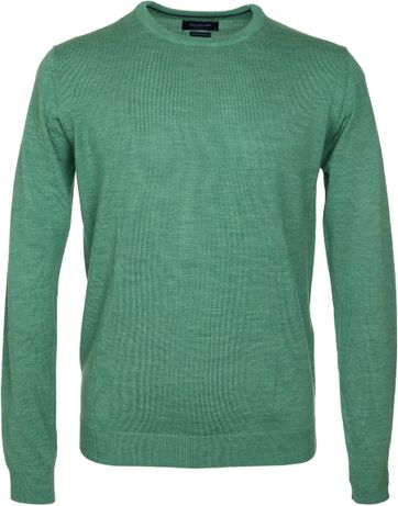 Profuomo Pullover O-Ausschnitt Grün