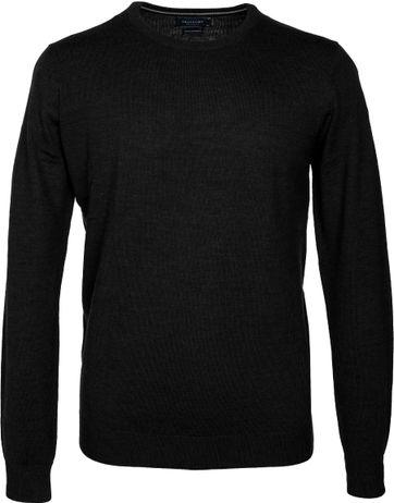 Profuomo Pullover O-Ausschnitt Schwarz